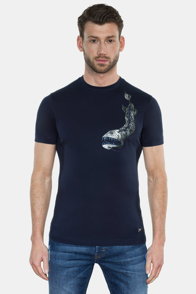 DRAGONFISH PRINT T-SHIRT