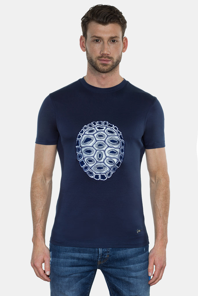 TURTLE SHIELD EMBROIRDERY T-SHIRT