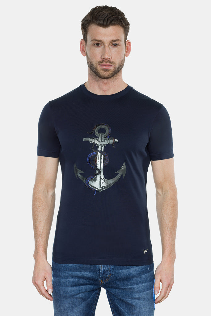 ANCHOR PRINT/EMBROIDERY T-SHIRT