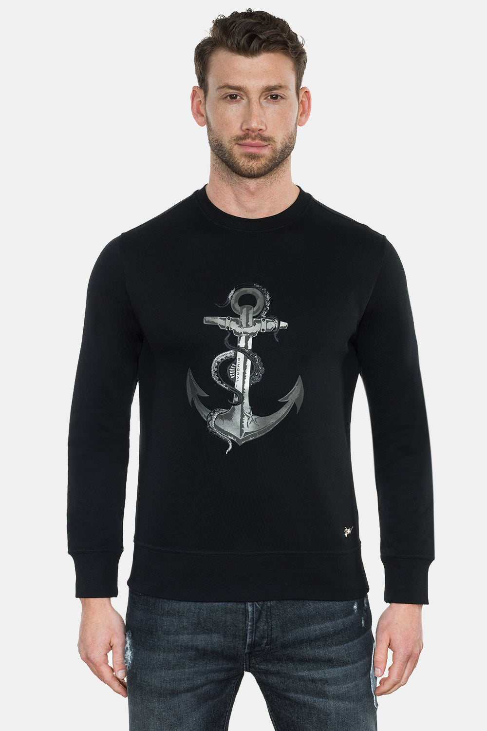ANCHOR PRINT EMBROIDERY SWEATSHIRT - DIMORAL OFFICIAL