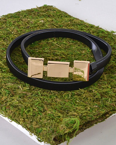 Squares Metal Buckle Belt