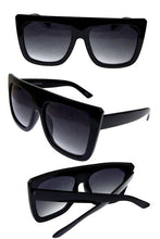 Womens plastic square flatloop fully rimmed sunglasses