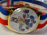 New 1970s Original Dickey Nixon President Gold Watch by Dirty Time Company