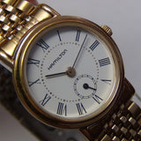 Hamilton Ladies Swiss Made Gold Quartz Retro Watch $895