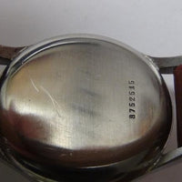 1930s Festina Men's Extra Large Swiss Made 17Jwl Silver Watch w/ Strap