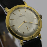 1957 Omega Men's Solid 18K Gold Swiss Made Watch