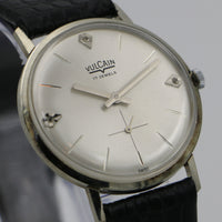 1950s Vulcain Men's Solid 14K White Gold Swiss Made Watch