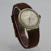 1950s Lord Elgin Men's Solid 10K Gold 25Jewels Spider Web Dial Watch