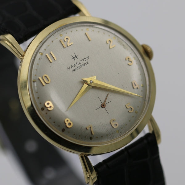 1966 Hamilton Masterpiece Men's Solid 14K Gold 22Jwl Watch