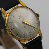 1970s Certina Men's Swiss Made Gold 17Jwl Ultra Thin Watch