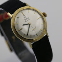 Zodiac Hermetic Men's Solid 14K Gold Swiss Made Unique Bezel Watch