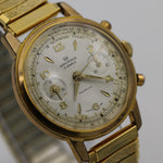 Wakmann Men's Gold 17Jwl Chronograph Telemeter See-Tru Back Case Watch