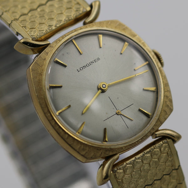 1940s Longines Men's Swiss Made 10K Gold Fancy Lugs Watch