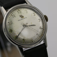 Paul Breguette Men's Silver Swiss Made 17Jwl Watch w/ Strap