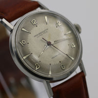 1950s Paul Breguette Men's Swiss Made 17Jwl Silver Ultra Thin Watch w/ Strap