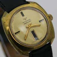 1960s Wittnauer Men's Automatic 17Jewels Gold Calendar Watch