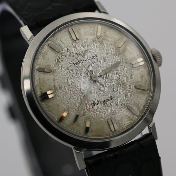 1950s Wittnauer Men's Automatic Silver Swiss Made Textured Dial Watch