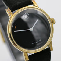 1960s Wittnauer Mens Swiss Made Gold Calendar Gorgeous Dial Watch