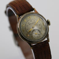 1930s Wittnauer Mens Swiss Made Gold Military Watch
