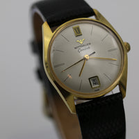 1960s Wittnauer Men's Gold Swiss 17Jwl Calendar Watch