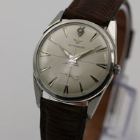 1950s Wittnauer Mens Swiss Made Automatic 10K Silver Diamond Quadrant Dial Watch