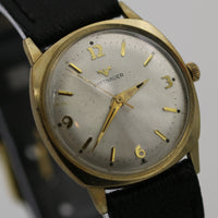 1950s Wittnauer Men's 10K Gold Swiss Made Watch w/ Strap