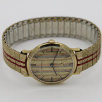 1950s Wittnauer Mens Swiss Made 10K Gold Gorgeous Dial Watch
