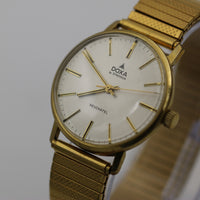 Doxa Neuchatel Men's Gold Swiss Made Clean Watch w/ Bracelet