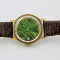 Zodiac Guardsman Men's Gold Automatic Swiss Made Unique Jade Dial Watch