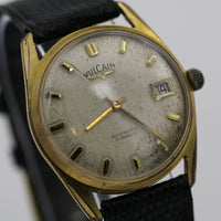 Vulcain Men's Automatic Calendar 17Jwl Swiss Made Gold Watch w/ Strap