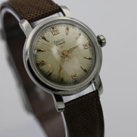Zodiac Hermetic Men's Silver Swiss Made Unique Dial Watch