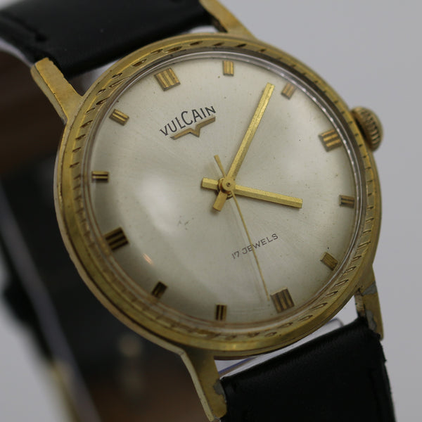 Vulcain Men's 17Jwl Swiss Made Gold Watch w/ Strap