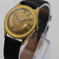 Zodiac Men's Gold Swiss Made Unique Dial Watch w/ Hirsch Strap