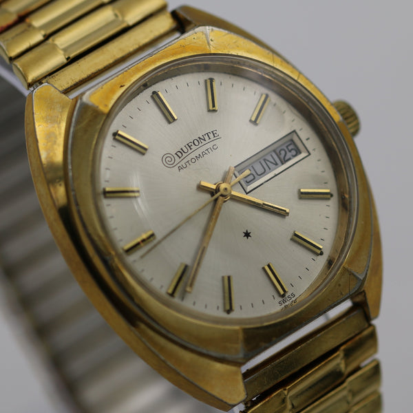 Lucien Piccard Men's Automatic Swiss Gold Calendar Watch