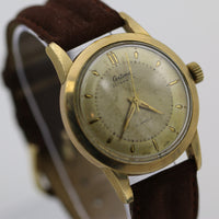 1940s Certina Mens Swiss Made 21Jwl Automatic Gold Fancy Lugs Interesting Watch