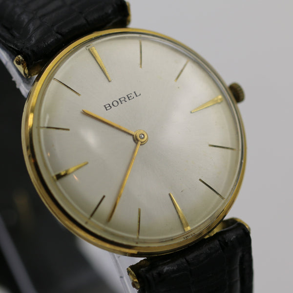 1960s Borel Men's Swiss Made Gold 17Jwl Ultra Thin Watch