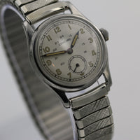 WWII Concord Men's 17Jwl Silver Military Watch - Very Rare