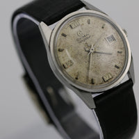 Cyma Navystar Men's 17Jwl Swiss Made Silver Calendar Watch w/ Swiss Made Strap