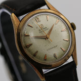 Cyma Navystar Men's 17Jwl Swiss Made Rose Gold Watch w/ Strap