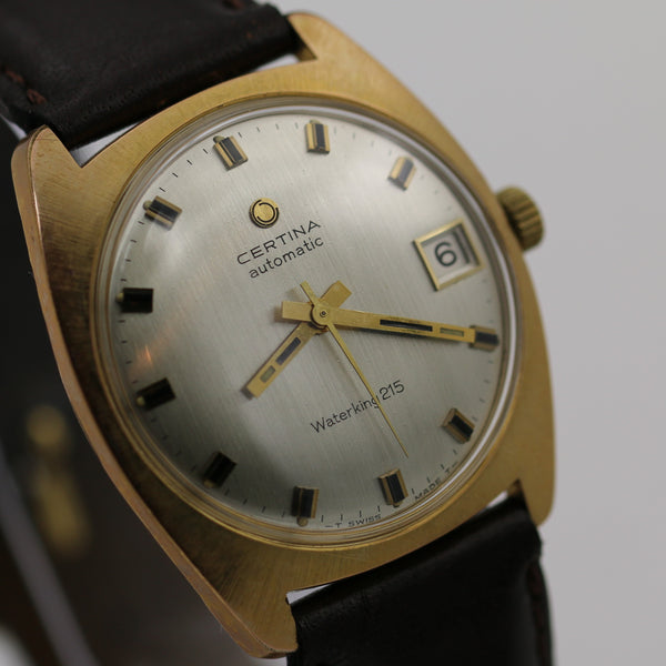 Certina WaterKing 215 Men's Swiss Automatic Gold Calendar Watch w/ DeBeer Strap
