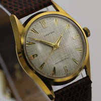 Croton Men's Swiss Gold Antarctic Automatic Watch w/ Lizard