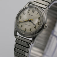 WWII Nivada Men's Swiss 17Jwl Bumpermatic Automatic Aquamatic Silver Watch