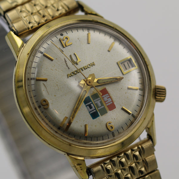 1977 Bulova Accutron 10K Gold Men's Calendar Watch w/ Bracelet