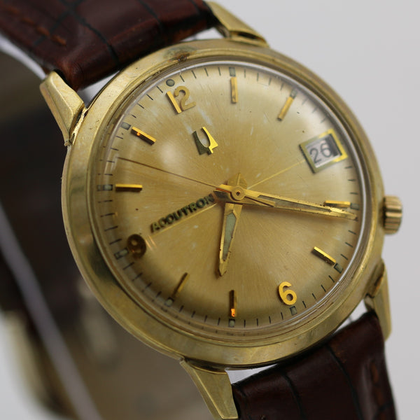 1971 Bulova Accutron 14K Gold Men's Calendar 2181 Watch