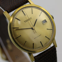 Tissot Stylist Men's Swiss Made Gold Calendar Watch w/ Strap