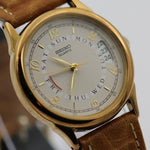 Seiko Men's Quartz Gold Multiple Calendar Watch w/ Strap