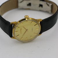 Cornavin Men's Gold 17Jwl Swiss Made Watch w/ Hadley-Roma Lizard Strap