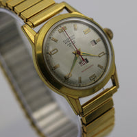 Clinton 79 Men's Automatic Swiss Made Gold Calendar Watch w/ Bracelet