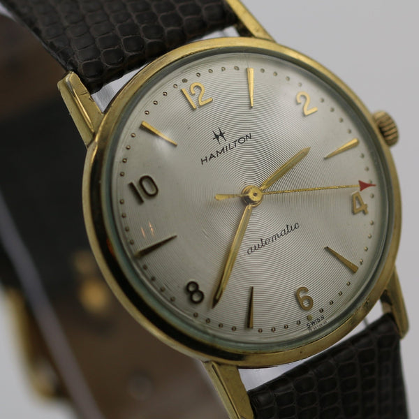 1950s Hamilton Men's 10K Gold Swiss 17Jwl Automatic Watch w/ Strap
