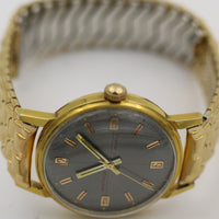 1950s Hamilton - Vantage Men's Gold 17Jwl Extra Clean Unique Dial Watch w/ Bracelet
